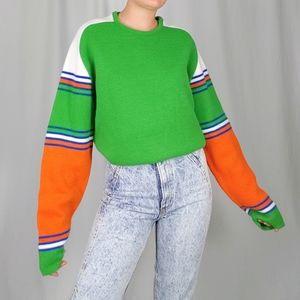 70's Orlon acrylic raglan sweater